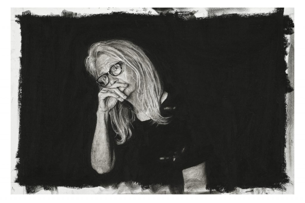 (Sally Potter) Charcoal on paper 29 x 44 cm By Nina Mae Fowler, 2019