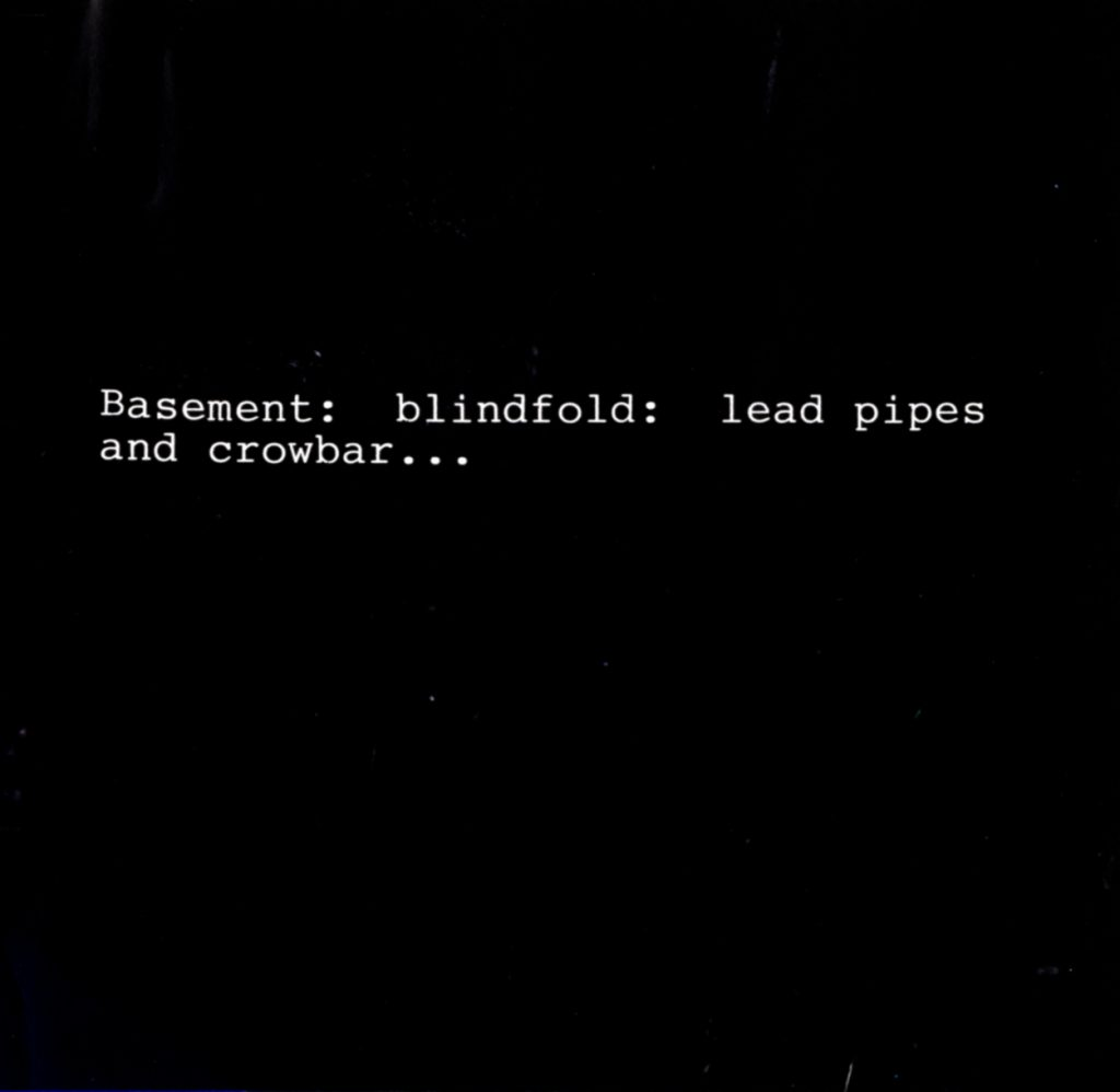 Vito Acconci: performance note from CLAIM (1971)