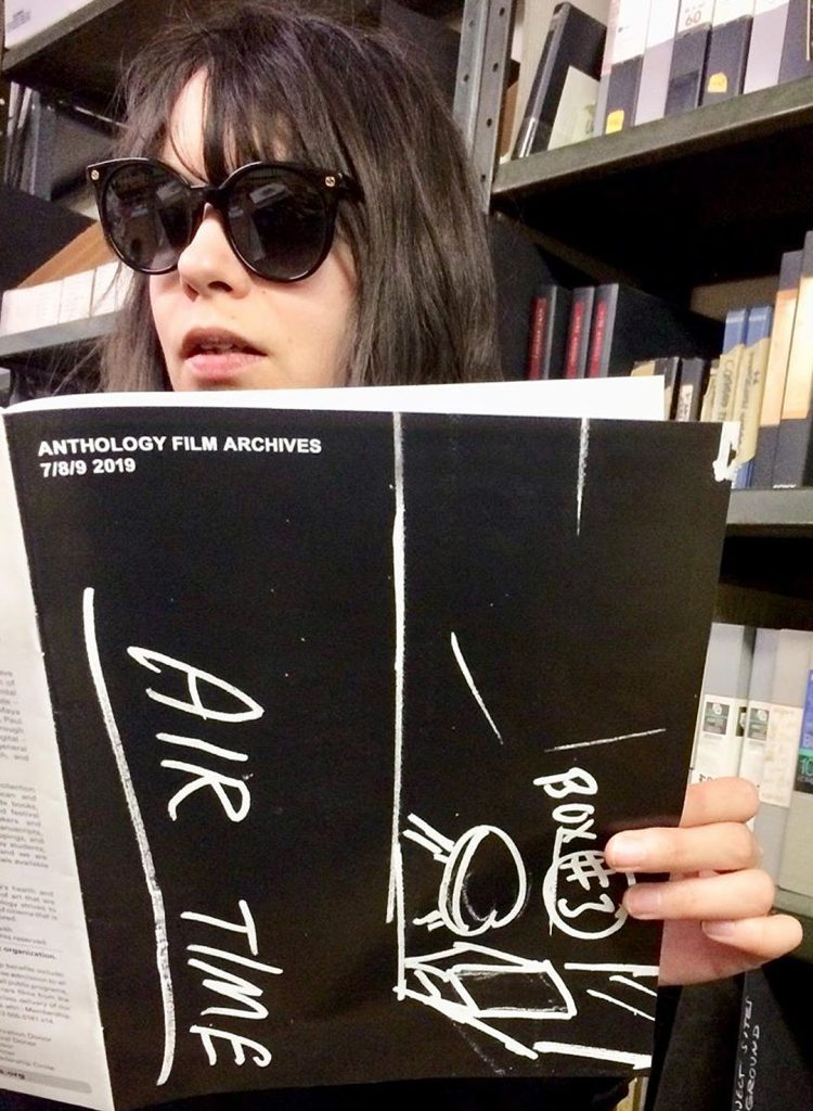 Maria Acconci: Anthology Film Archives calendar from Vito Acconci: AIR TIME (1973)