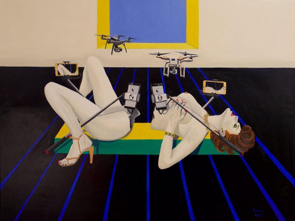 Philipp Humm Selfie 123x91 cm oil on canvass 2017