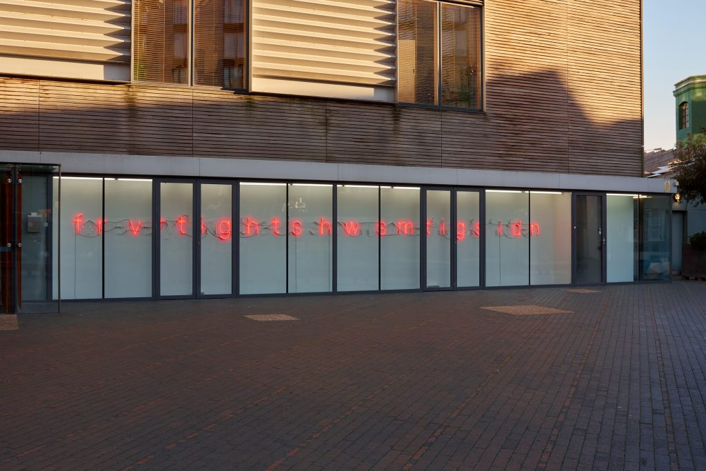 Tim Etchells, For Everything, 2018. Installation view. Photographer Jonathon Bassett