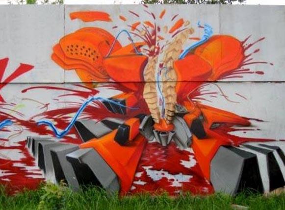 1 Street Artist SOAP's mural in Bydgoszcz, Poland