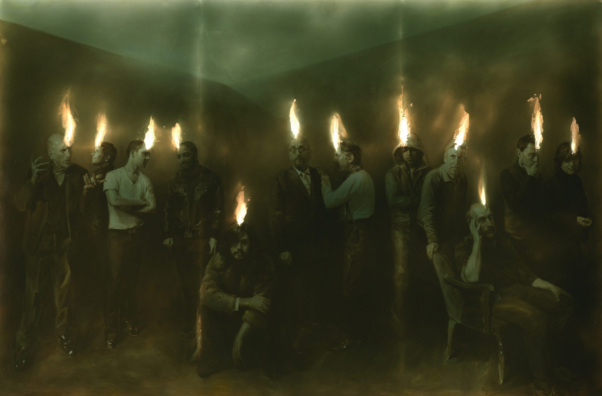 Speaking in Tongues, 2014. Oil and resin on board, 244 x 366 cm © Paul Benney, by courtesy of the artist
