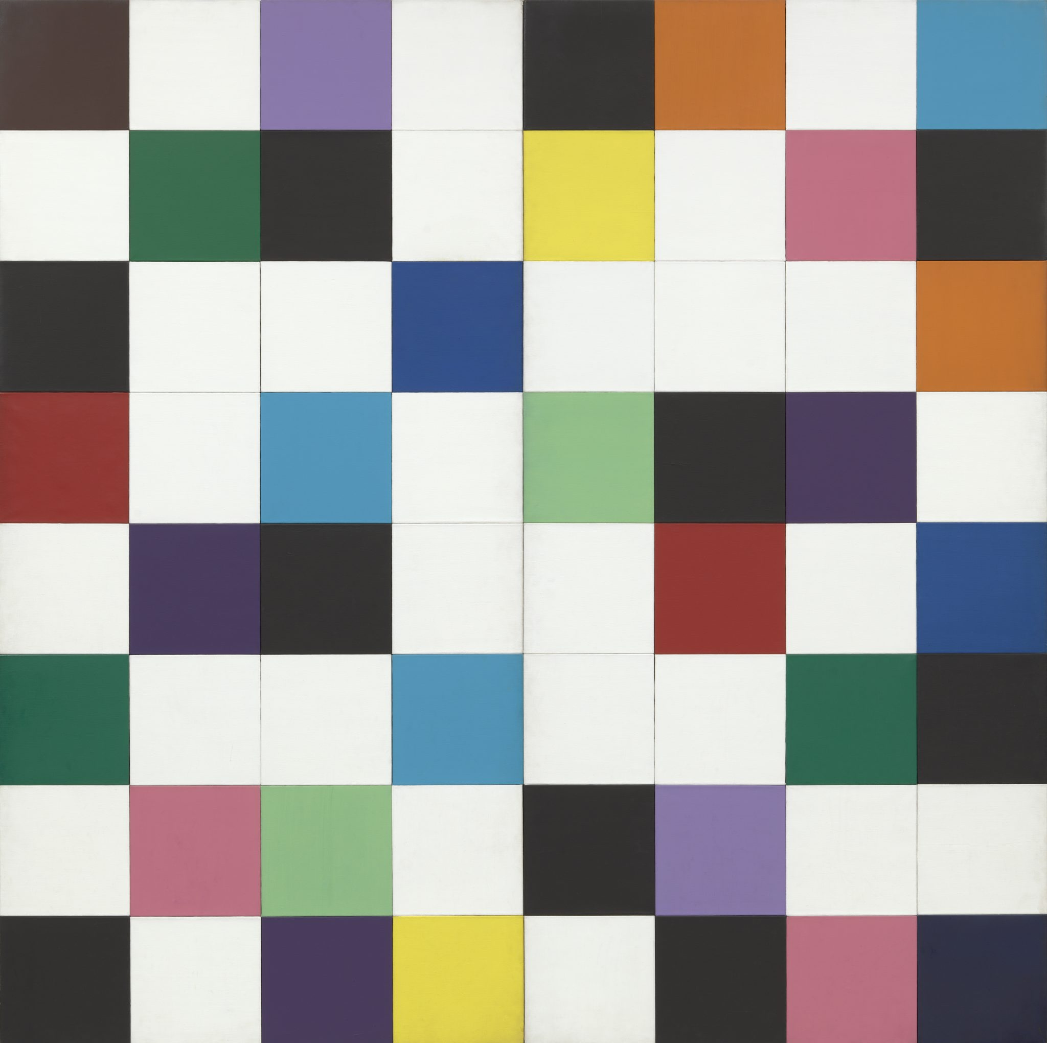 Ellsworth Kelly (American, 1923–2015) Colors for a Large Wall 1951 Oil on canvas, sixty-four panels The Museum of Modern Art, New York Gift of the artist, 1969. © 2017 Ellsworth Kelly FAD magazine