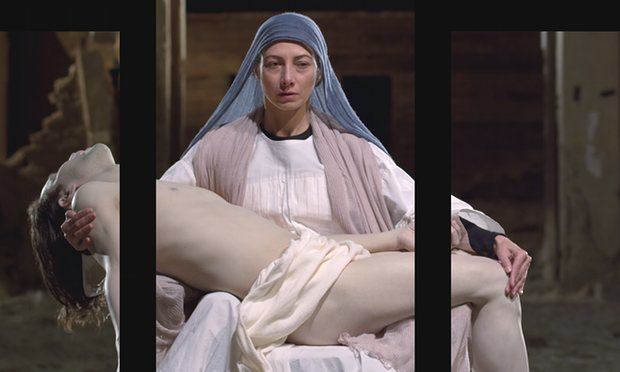 A still from Mary, 2016, by Bill Viola; Executive Producer, Kira Perov, which will be inaugurated in the cathedral on 8 September