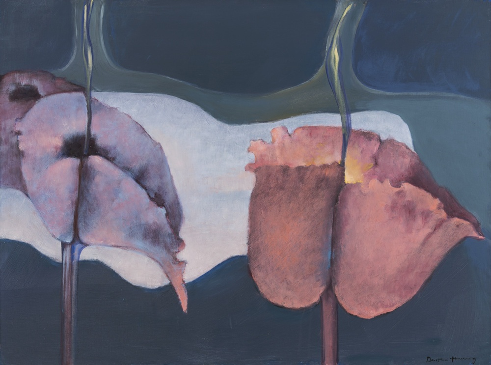 Dorothea Tanning Siderium Exaltatum (Starry Venusweed), 1997 Oil on canvas Unframed: 97 x 130 cm, 38 1/4 x 51 1/8 ins Framed: 99 x 132 cm, 39 x 52 ins Copyright The Destina Foundation, New York