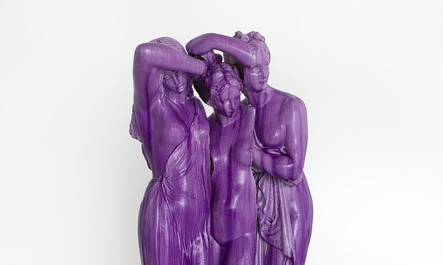 Rotting glamour ... Jean-Luc Moulène's Purple Graces, 2016. Photograph: Courtesy the artist and Thomas Dane Gallery, London