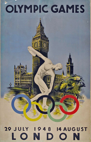 1948londonposter 300x470 British artists selected to design Olympic posters