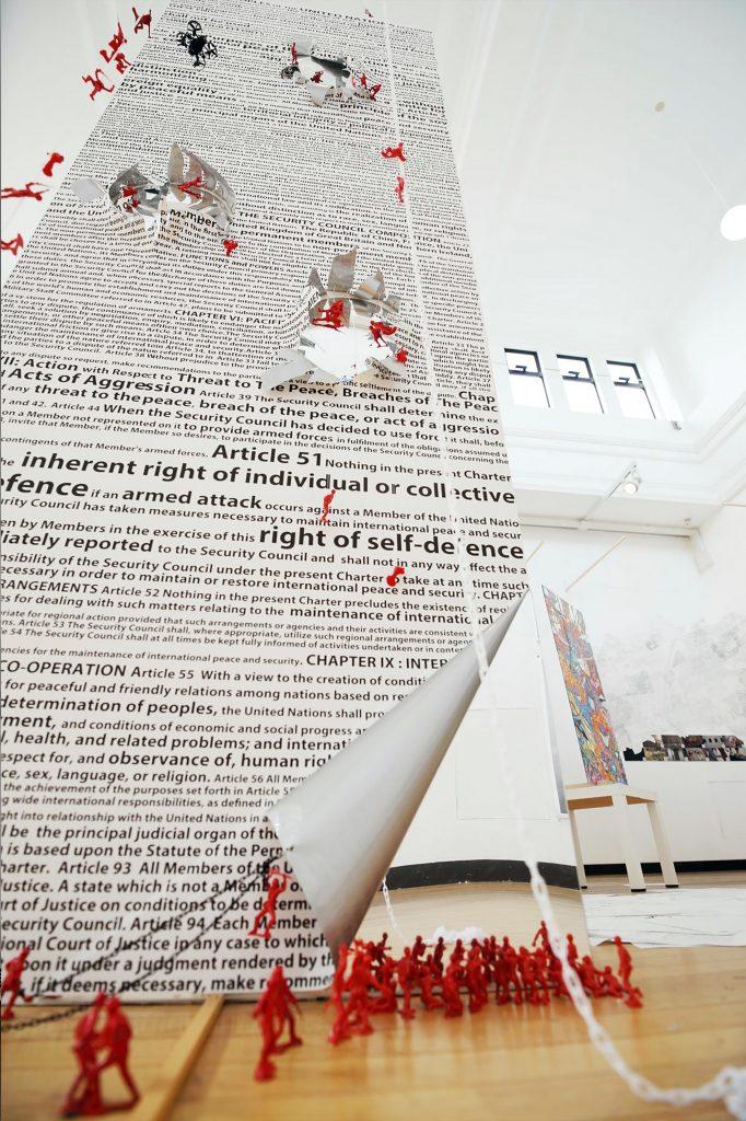 DA IN PARK, Self Defense: Defense or Attack?, 2019, Mixed media, 500 x 400 cm, Courtesy of the artist