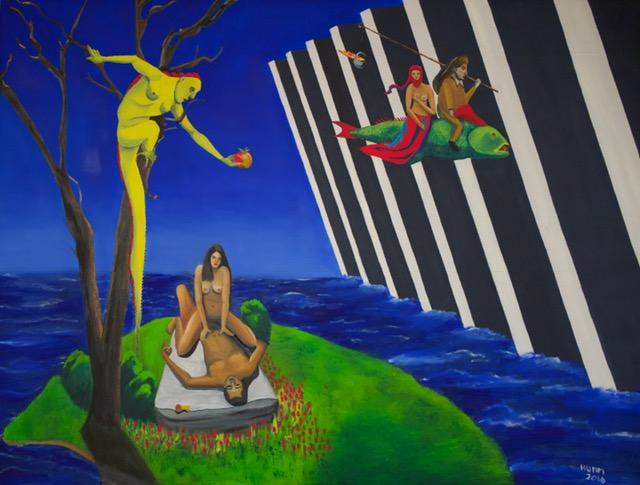 PHILLIP RUDOLF HUMM deadly-sins 2016 oil-on-canvas