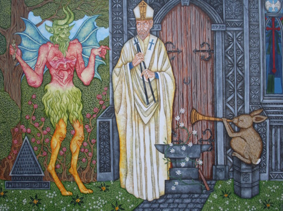 St Dunstan & the Devil © Joe Machine. Courtesy the artist and CNB Gallery