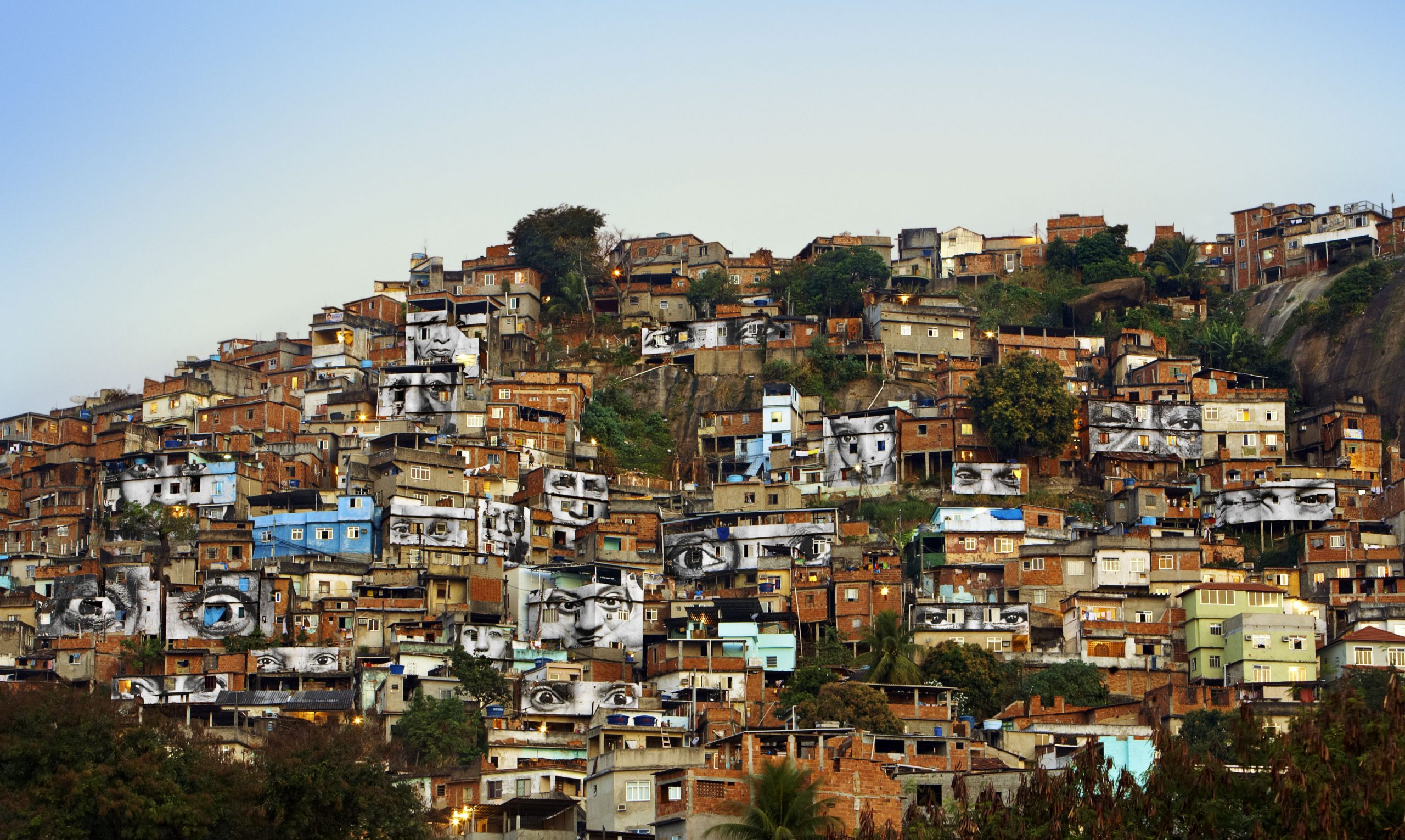 JR (French, born 1983). 28 Millimètres, Women Are Heroes, Action dans la Favela Morro da Providência,
