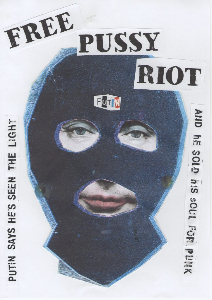 Free Pussy Riot, 2012/2018, Digital print on paper,594 x 420 mm Courtesy John Marchant Gallery