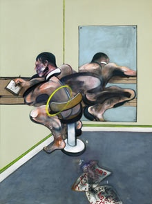 20120406 090350 Francis Bacon painting, Figure Writing Reflected in Mirror, in Sothebys sale