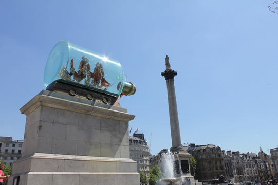 20120424 081238 Yinka Shonibares ship in a bottle goes on permanent display in Greenwich