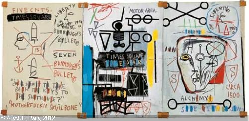 20130122 132501 Jean Michel Basquiats Burroughs triptych to be sold at London auction