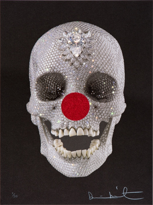 20130224 101121 Damien Hirsts Skull gets Red Nose for Comic Relief
