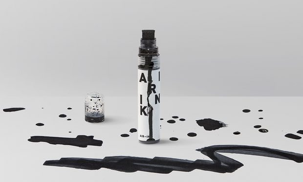 Air-Ink, the art supplies made from vehicle pollution