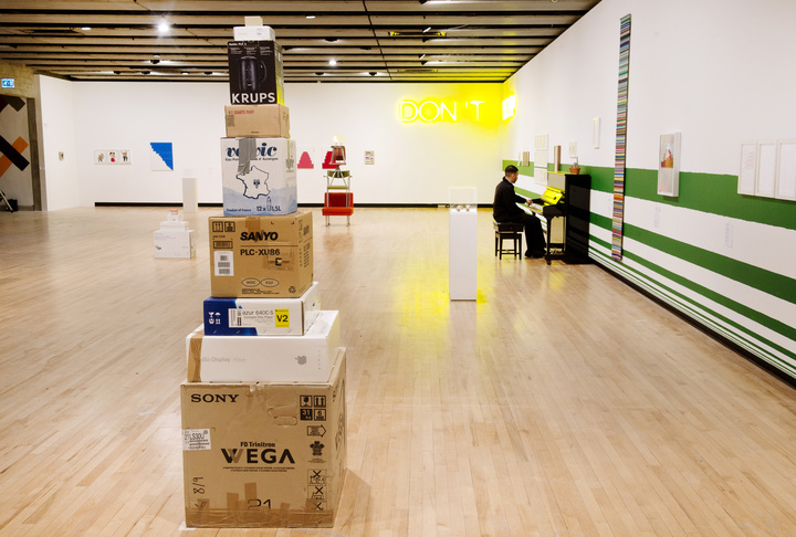 Work No. 916, 2008, Martin Creed, What's the Point of it, Hayward Gallery, 2014 Installation view, photo Linda Nylind