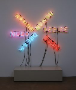 Bruce Nauman (American, born 1941) Human/Need/Desire 1983 Neon tubing and wire with glass tubing suspension frames The Museum of Modern Art, New York. Gift of Emily and Jerry Spiegel, 1991 © 2017 Bruce Nauman/Artists Rights Society (ARS), New York FAD magazine