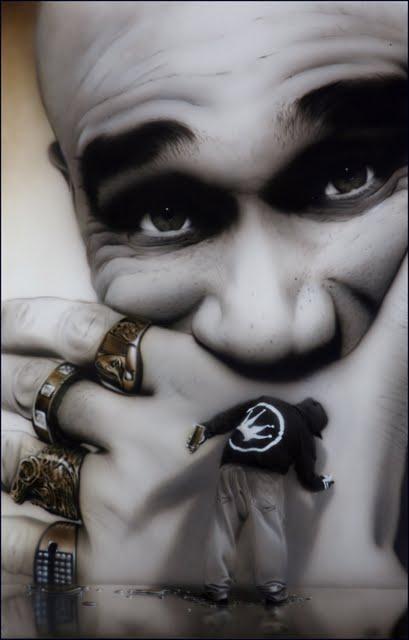 24 Street Artist SOAP's  portraits Goldie 2011