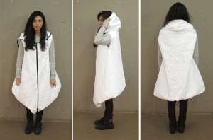 the Royal College of Art 'wearable dwelling', worn by a student