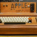 Wooden wonder … the Apple 1 computer. Photograph: Ed Uthman/Ed Uthman/Flickr