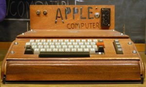 Wooden wonder … the Apple 1 computer. Photograph: Ed Uthman/Ed Uthman/Flickr