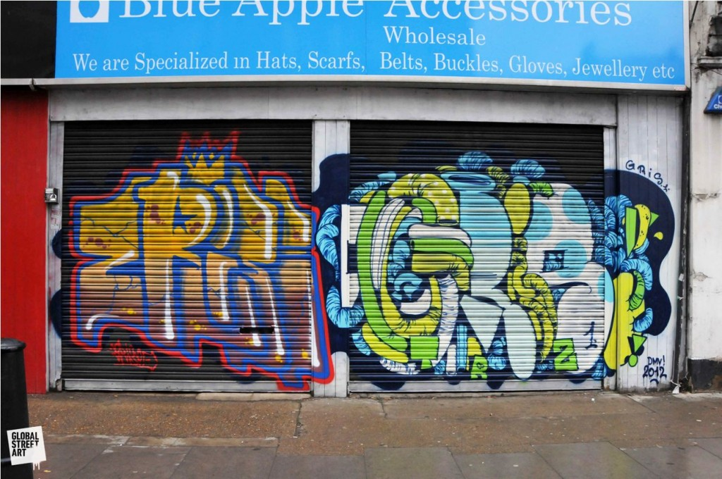2Rise and Gris 1024x680 The Walls Project: Painting  the walls of London