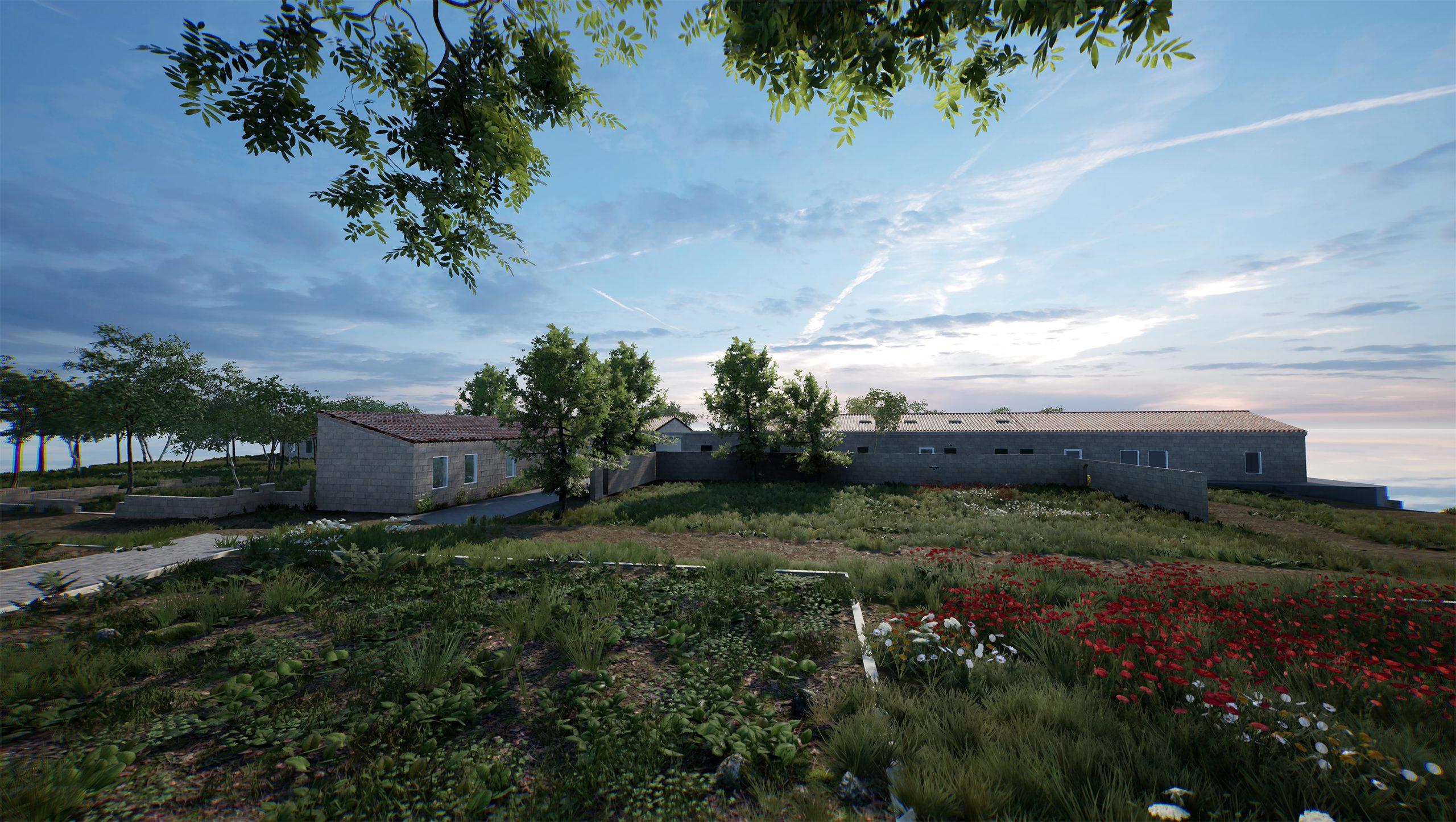 ArtLab, Hauser & Wirth Menorca exterior view created in HWVR Courtesy Hauser & Wirth