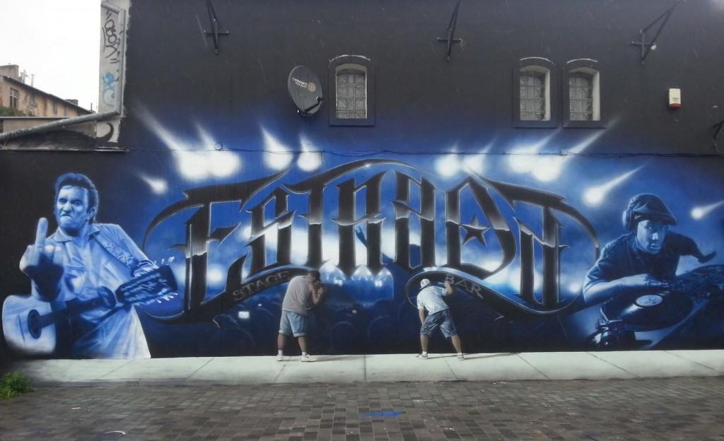 2a Street Artist SOAP's mural in Bydgoszcz, Poland