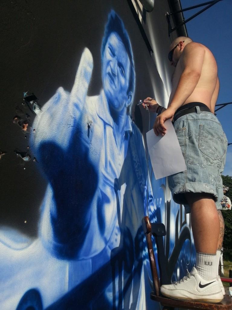 2b Street Artist SOAP's mural in Bydgoszcz, Poland