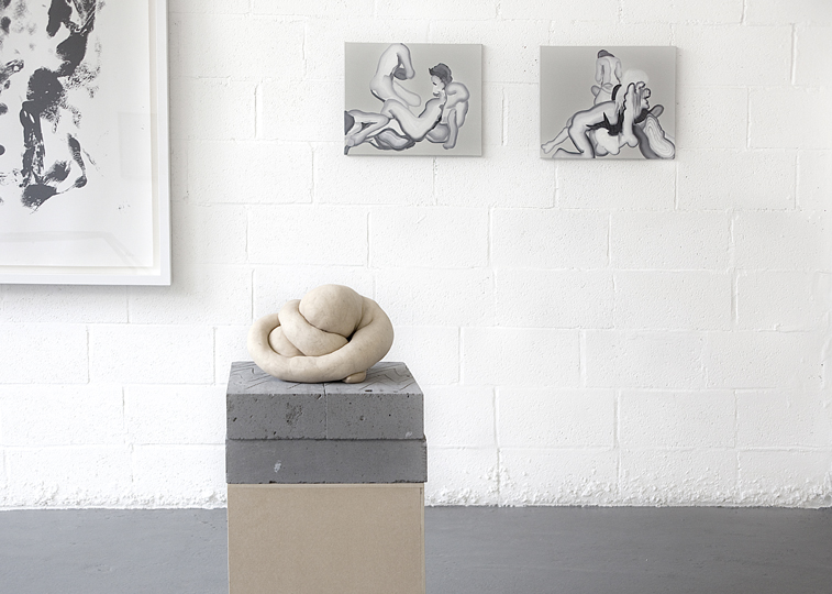 3 Whitney McVeigh monoprint Sarah Lucas sculpture courtesy of Sadie Coles HQ Konrad Wyrebek paintings Sacropp IMG 2148 GOSEE: Flesh Reality@Point Zero project space