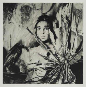 Carolee Schneemann, from the series Eye Body: 36 Transformative Actions for Camera, 1963 / 2005, 18 gelatin silver prints. Courtesy of the Estate of Carolee Schneemann, Galerie Lelong & Co., Hales Gallery, and P•P•O•W, New York © Carolee Schneemann