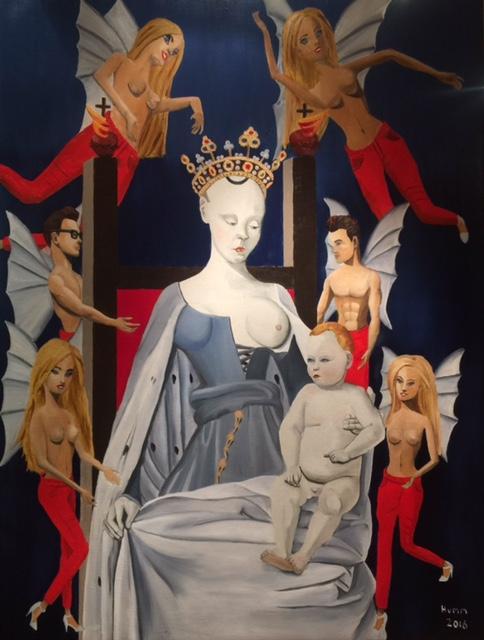 PHILLIP RUDOLF HUMM indoctrinated 2016 oil-on-canvas-