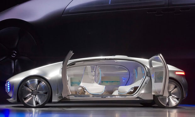 The Mercedes F 015 Luxury in Motion concept car is part of a trend of creating luxury designs for a driverless future. Photograph: Steve Marcus/Reuters