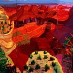 'Sheer shocking love of pigment': 9 Canvas Study of the Grand Canyon, 1998 by David Hockney. Photograph: © David Hockney/Tate