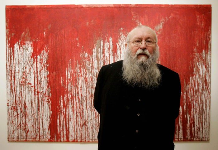 Austrian avant-garde artist Hermann Nitsch is in Australia for Mona's annual midwinter arts festival, Dark Mofo. Photograph: Matt Dunham