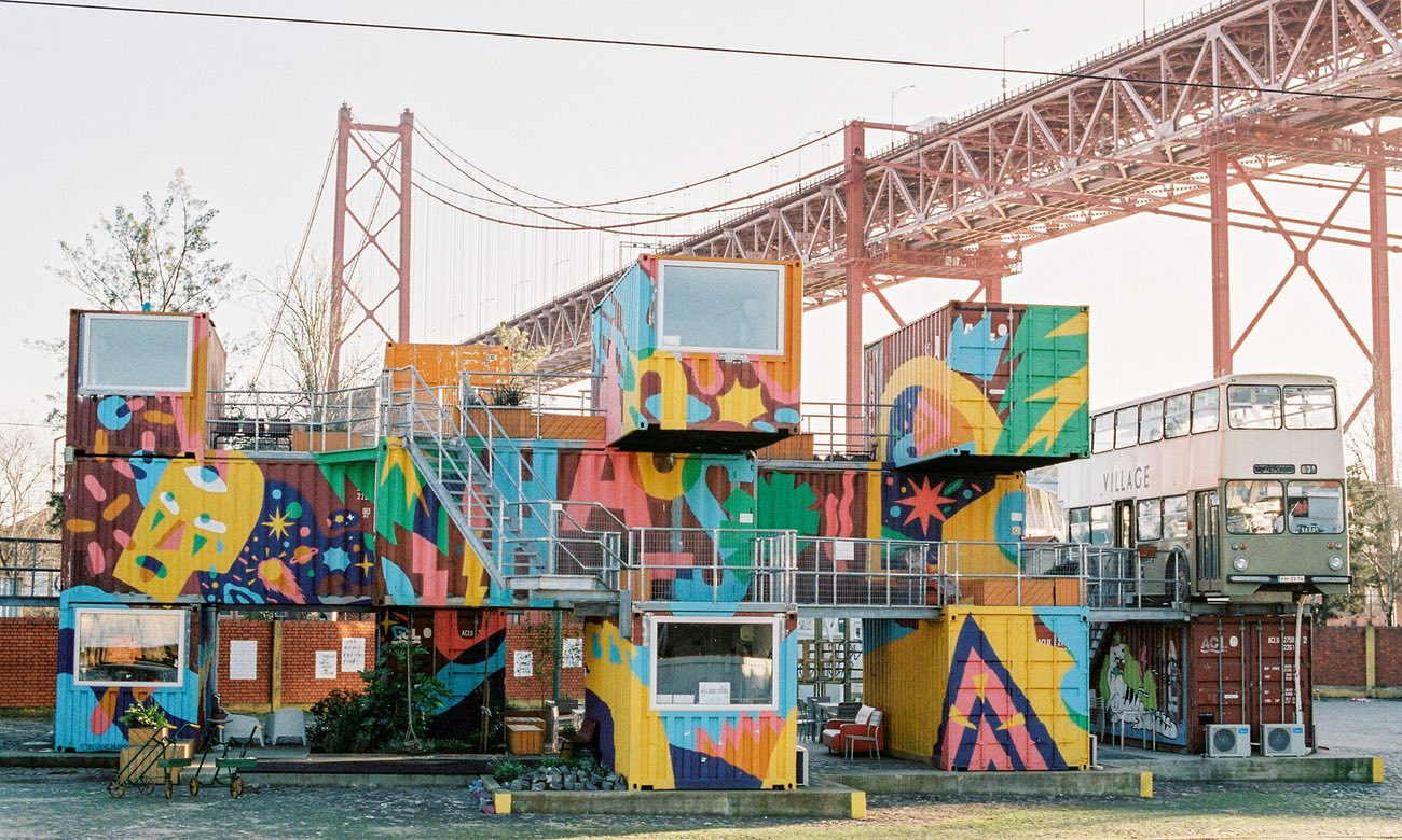 Village Underground – part creative community, part arts venue – occupies a dramatic site next to the city's suspension bridge. Photograph: Village Undergound