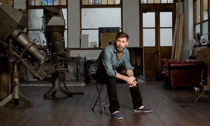 Mat Collishaw in his south London studio. Photograph: Thomas Butler