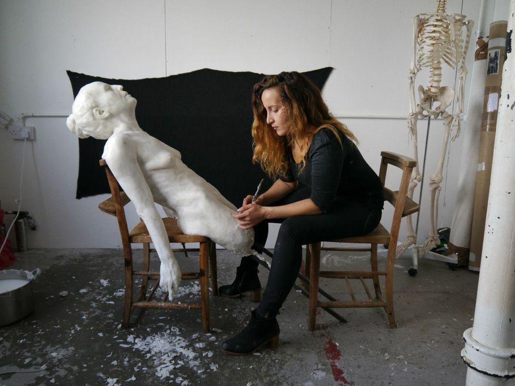 Virgile Ittah in her studio shot by  Aaron Hammond