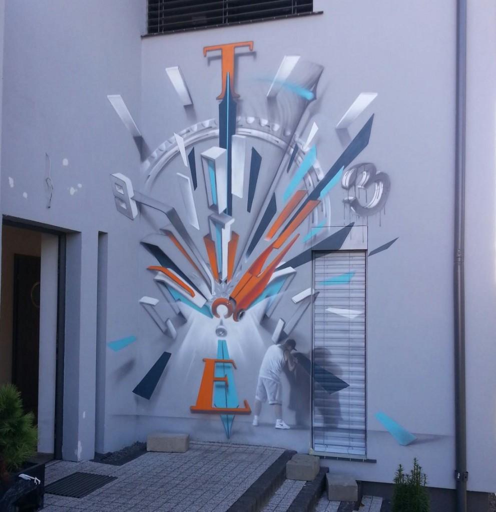 3Street Artist SOAP's mural in Bydgoszcz, Poland