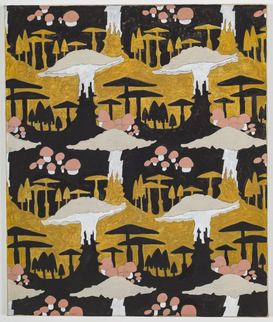Alex Morrison, 'Mushroom Motif' (Black and Ochre), 2017, courtesy of the artist, care of L'inconnue Gallery, Montreal