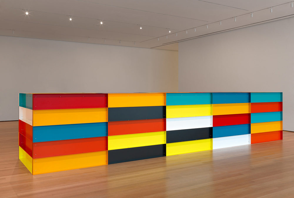 Donald Judd. Untitled. 1991. Enameled aluminum, 59? × 24? 7 1/4? × 65? (150 × 750 × 165 cm). The Museum of Modern Art, New York. Bequest of Richard S. Zeisler and gift of Abby Aldrich Rockefeller (both by exchange) and gift of Kathy Fuld, Agnes Gund, Patricia Cisneros, Doris Fisher, Mimi Haas, Marie-Josée and Henry R. Kravis, and Emily Spiegel. © 2019 Judd Foundation/Artists Rights Society (ARS), New York. Photo: John Wronn FAD MAGAZINE