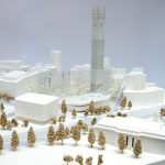 An architect's model of the Beirut Museum of Art. Photograph: BeMA
