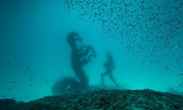 Into the deep... a new image of a Damien Hirst work, Treasures from the Wreck of the Unbelievable. Photograph: Christoph Gerigk/© Damien Hirst and Science Ltd