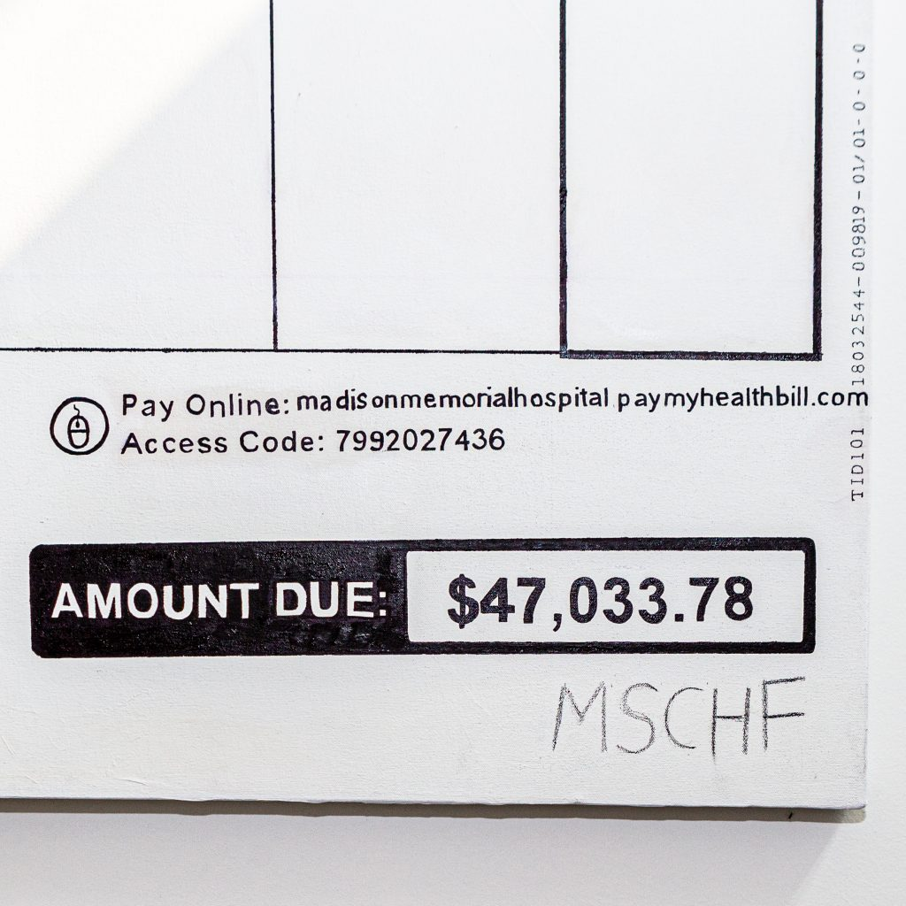 New York based MSCHF turned medical bills into paintings and sold them to erase their debt
