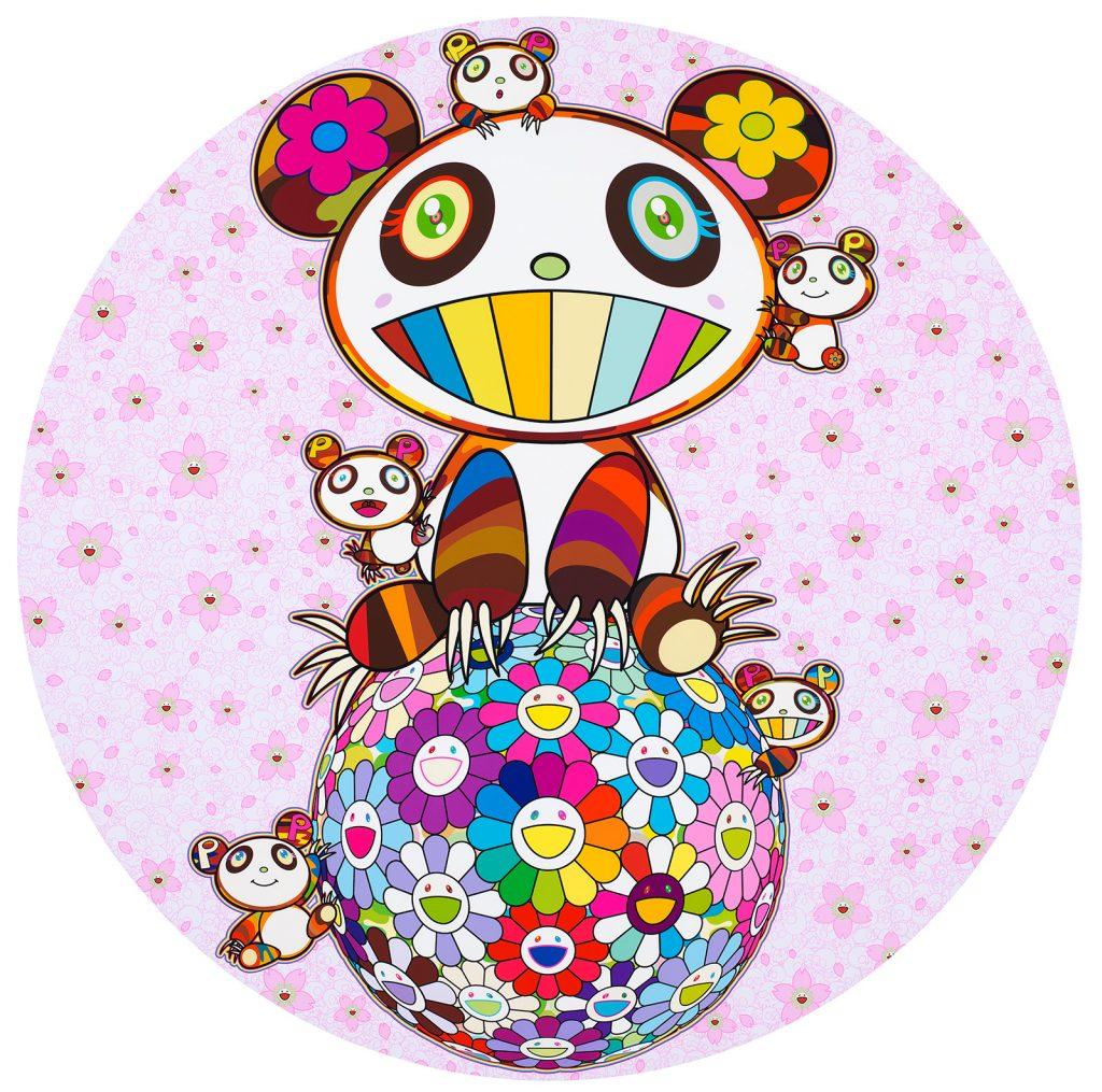 Artist Spotlight:TAKASHI MURAKAMICherry Blossoms and Pandas, 2020Acrylic on canvas mounted on wood panel39 3/8 x 39 3/8 in100 x 100 cm© 2020 Takashi Murakami/Kaikai Kiki Co., Ltd. All rights reserved. Photo: Kei Okano. Courtesy the artist and Gagosian.