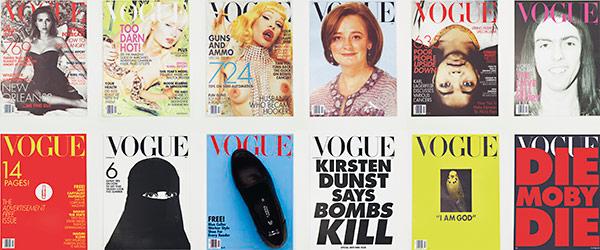 How I'd Sink American Vogue | London, South Kensington | digital print, paperclip, sellotape and shoe, in twelve parts | 27.5 x 20.5cm
