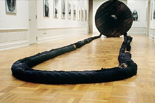 Magdalena Abakanowicz's massive 1973 'Wheel with Rope'